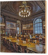 The Periodical Room At The New York Public Library Wood Print by Susan Candelario