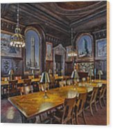 The Periodicals Room At The New York Public Library Wood Print