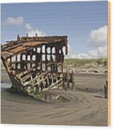 The Peter Iredale Shipwreck 2 Color Wood Print