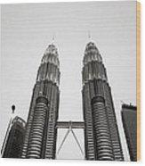 The Petronas Towers Malaysia Wood Print