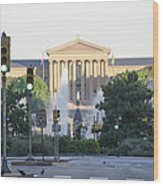 The Philadelphia Art Museum From The Parkway Wood Print