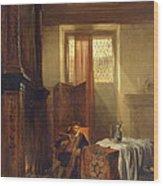 The Philosopher Wood Print