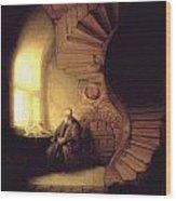 The Philosopher In Meditation Wood Print