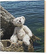 The Philosopher - Teddy Bear Art By William Patrick And Sharon Cummings Wood Print by Sharon Cummings