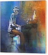 The Pianist 01 Wood Print