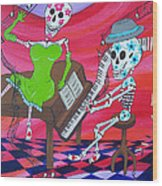 The Pianist Day Of The Dead Wood Print