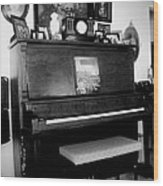 The Piano And Clarinet  Wood Print