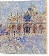 The Piazza San Marco Wood Print by Pierre Auguste Renoir