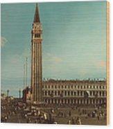 The Piazza San Marco Venice Wood Print