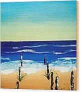 The Picket Beach Wood Print