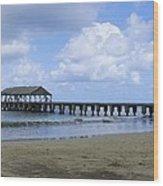 The Pier At Hanalei Wood Print