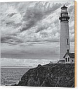 The Pigeon Point Beacon Wood Print by Eduard Moldoveanu
