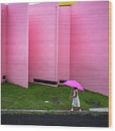 The Pink Color World Wood Print