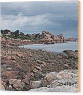 The Pink Granite Coast Brittany Wood Print