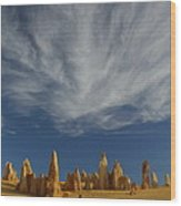 The Pinnacles 2am-111015 Wood Print