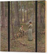 The pioneer Wood Print