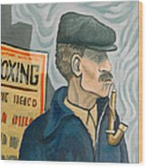 The Pipe Smoker Wood Print
