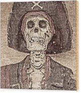 The Pirate Wood Print