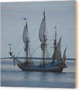 The Pirate Ship Wood Print by Cecelia Helwig