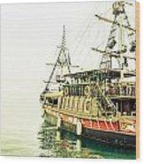 The Pirate Ship. Wood Print