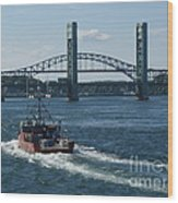 The Piscataqua River Wood Print