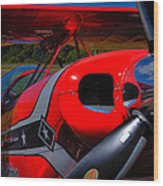 The Pitts S2-b Biplane - Will Allen Airshows Wood Print
