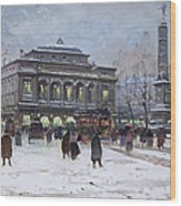 The Place Du Chatelet Paris Wood Print