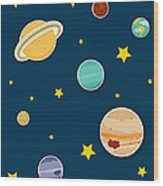 The Planets  Wood Print by Christy Beckwith