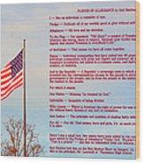The Pledge Wood Print