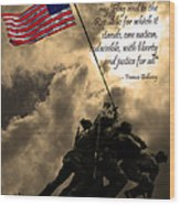 The Pledge Of Allegiance - Iwo Jima 20130211v2 Wood Print