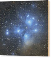 The Pleiades Open Star Cluster Wood Print
