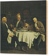 The Poet Alexis Piron 1689-1773 At The Table With His Friends, Jean Joseph Vade 1720-57 And Charles Wood Print