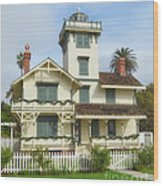 The Point Fermin Lighthouse Wood Print