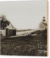 The Point Pinos Lighthouse Pacific Grove California Circa 1895 Wood Print