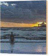 The Polar King From Crosby Beach Wood Print