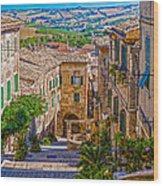 The Polenta Well Wood Print