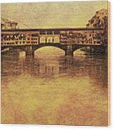The Ponte Vecchio In Florence Italy Wood Print