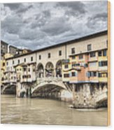 The Ponte Vecchio In Florence Wood Print