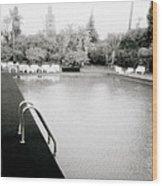 The Pool Wood Print