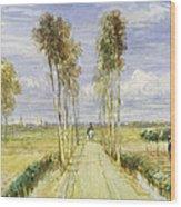 The Poplar Avenue Wood Print
