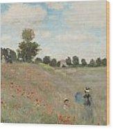 The Poppy Field Wood Print