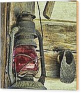 The Porch Light Wood Print