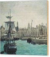 The Port At Calais Wood Print