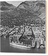 The Port Of Honolulu Wood Print
