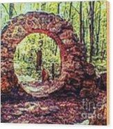 The Portal To Love Life Peace 1 Wood Print