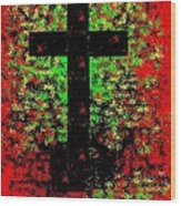 The Potted Cross Wood Print