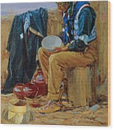 The Pottery Maker Wood Print
