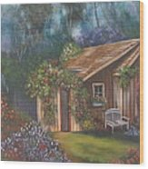 The Potting Shed Wood Print
