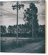 The Power Lines  Wood Print