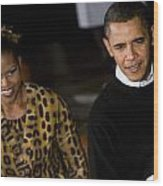 The President And First Lady Wood Print